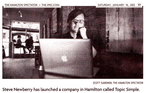 Photo of Topic Simple in the Hamilton Spectator 2012