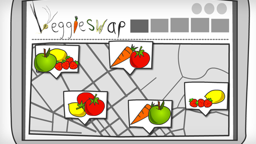 Veggie Swap Map of Vegetables
